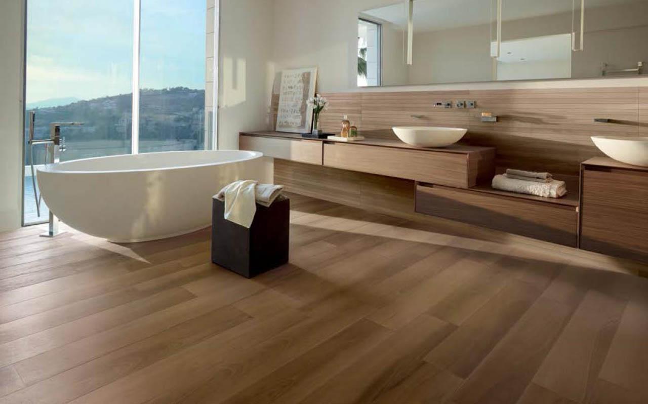 Collezioni bagno effetto legno pavimento in gres verona pavimento in legno verona - Bagno finto legno ...