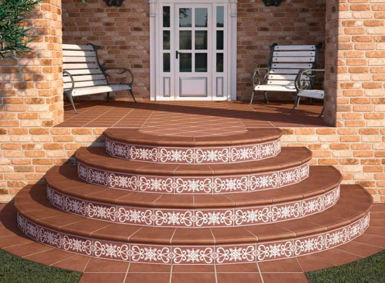 Pavimenti in klinker per interni: gradini per scale. pavimenti in